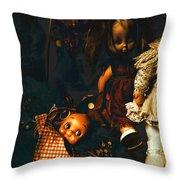 Kewpie's Bad Dream Throw Pillow