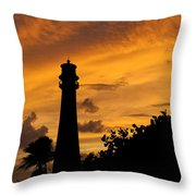 Key Biscayne Fl Lighthouse Img 6806 Throw Pillow