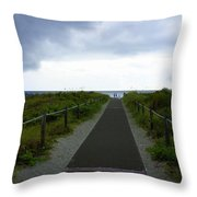 Key Biscayne Storm Throw Pillow
