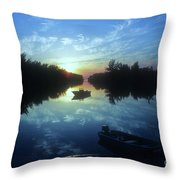 Key Biscayne Sunset 2 Throw Pillow