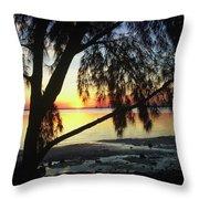 Key Biscayne Sunset Throw Pillow