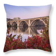 Graceful Feeling - Washington Dc Key Bridge Throw Pillow