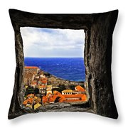 Key Hole View Of Dubrovnik Throw Pillow