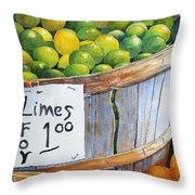Key Limes Ten For A Dollar Throw Pillow