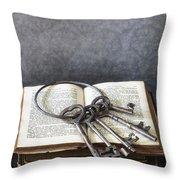 Key Ring Throw Pillow