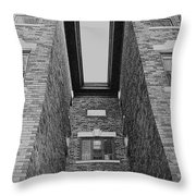 Key-stoning In Black And White Throw Pillow