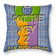 Key To Happiness Throw Pillow