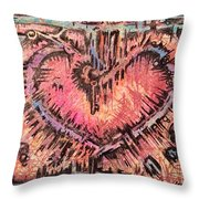 Key To Her Heart Throw Pillow