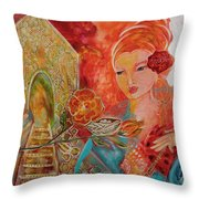 Key To The House Of Honey Throw Pillow