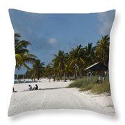 Key West - Smathers Beach Throw Pillow