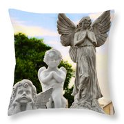 Key West Angels Throw Pillow