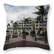 Key West Bayfront  Throw Pillow