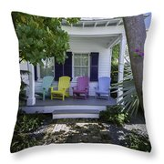 Key West Chairs Throw Pillow