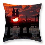 Key West Florida Sunrise Throw Pillow
