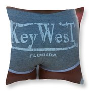 Key West Hot Pants At The Beach Throw Pillow