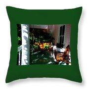 Key West Porch Throw Pillow