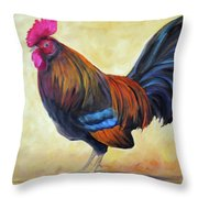 Key West Rooster Throw Pillow