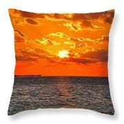 Key West Sunset 11 Throw Pillow