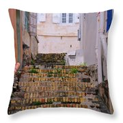 Keyboard Alley Throw Pillow
