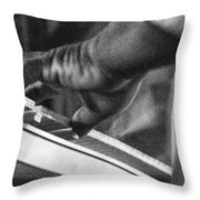 Keyboard In Black And White Throw Pillow