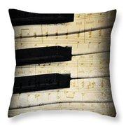 Keyboard Music Throw Pillow