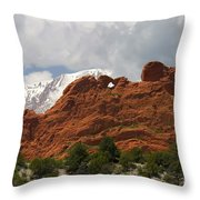Keyhole To Pikes Peak Throw Pillow