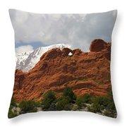 Keyhole To Pikes Peak Throw Pillow