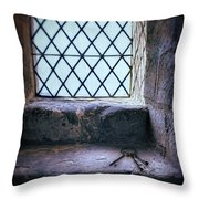 Keys On Stone Windowsill Throw Pillow