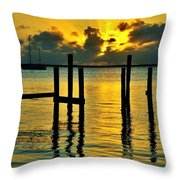 Keys Sunset Throw Pillow