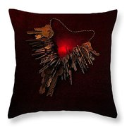 Keys To My Chained Heart Throw Pillow