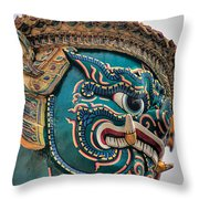 Khmer Guard Throw Pillow