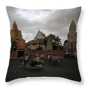 Khmer Life Throw Pillow