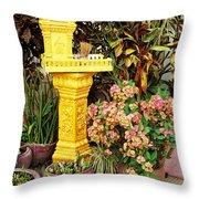 Khmer Shrine Throw Pillow