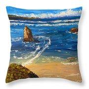 Kiama Beach Throw Pillow