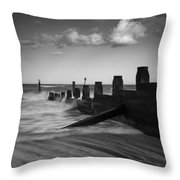 Kicked In The Groyne Throw Pillow