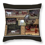 Horses Kickin It  Throw Pillow
