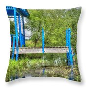 Kickin It In Rural Missouri Throw Pillow