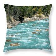 Kicking Horse River Throw Pillow