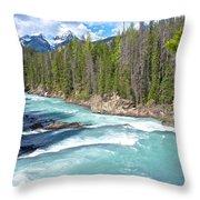 Kicking Horse River In Yoho Np-bc Throw Pillow