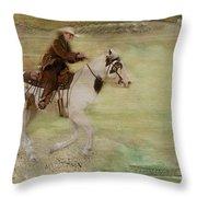 Kicking Up Some Dirt Throw Pillow by Susan Candelario
