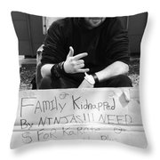 Kidnapped By Ninjas Throw Pillow