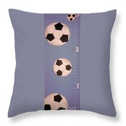 Kids And Soccer Throw Pillow