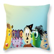 Kids Duvet Cover Throw Pillow