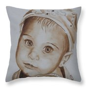 Kids In Hats - Isabella Throw Pillow