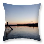 Kids On The Slide Throw Pillow