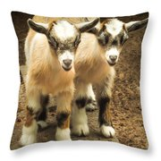 Kids One And Two Throw Pillow