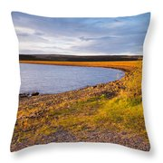 Kielder Dam In Late Evening Throw Pillow