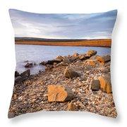 Kielder Dam In Low Sun Throw Pillow