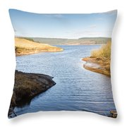Kielder Water Inlet Throw Pillow