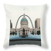 Kiener Plaza - St Louis Missouri Throw Pillow